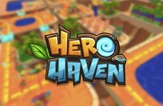 Hero Haven mobile game logo gui Bg Design, Game Logo Design, Game Font, Game Ui, Typography Logo, Art Logo, Mobile Logo, Mobile Game, Video Game Logos