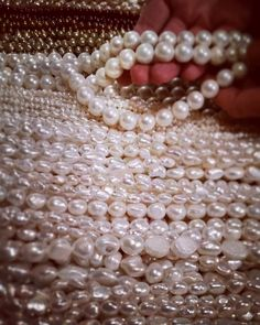 #freshwater #pearl #hunting with Merry :) #pearls #luster #white #peach #oilslick #spring #winter #wedding