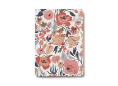 Citrus Peach Notebook offset printed with foil details by Kelsey Garrity-Riley for Red Cap Cards #illustration