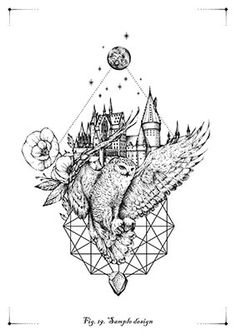 Harry Potter Castle, Harry Potter Quilt, Harry Potter Disney, Harry Potter Art, Harry Potter Fandom, Harry Tattoos, Finger Tattoos, Disney Tattoos, Disney Thigh Tattoo