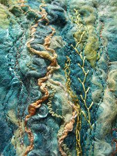 Texture in Felt Making by rosiepink, via Flickr