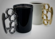 Brass Knuckles Mugs by Thabto