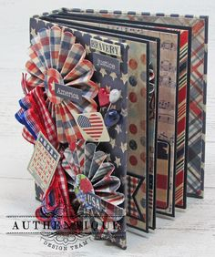 "Scraps of Life: Liberty ""Tiny Mini"" for Authentique Mini Albums, Mini Scrapbook Albums, Scrapbook Paper, Baby Mini Album, Create This Book, Mini Album Tutorial, Diy Tutorial, Paper Rosettes, Fabric Journals"