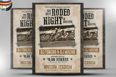 Rodeo Night Flyer Template by FlyerHeroes on @creativemarket