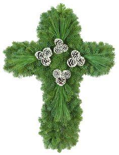Christmas Cross Wreath...My wreath for next year!