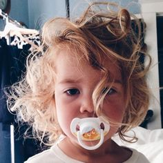 I imagine my child having hair as crazy as this ... ❤️ and I'm so excited