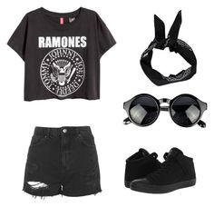 """""""Untitled #94"""" by alexandragabriela2 on Polyvore featuring Topshop, Converse and Boohoo"""