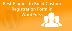 A good-looking #Registration form gives your site a #professional look, and also helps streamline your online communication. #10 #Best #Plugins to #Build #Custom #Registration #Form in #WordPress. Read more:http://dealmirror.com/best-plugins-to-build-custom-registration-form-in-wordpress/