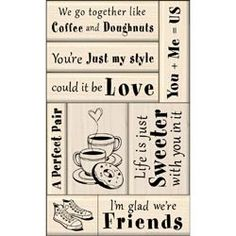 love and friendship stamp set