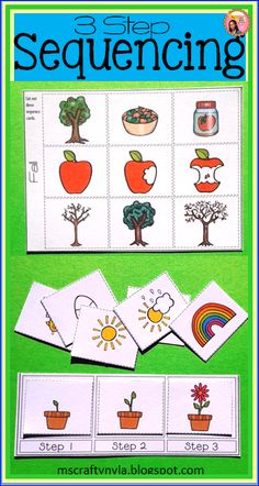 Sequence Cards for 3-step sequencing $