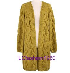 Fashion sweater / Knitted coat / loose and comfortable cardigan / Gumflower sweater
