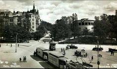 Oslo Tordenskiolds plass -senere Rådhusplassen - og restaurant Skansen og Rondo til høyre tidlig 1930-tallet Utg Mittet
