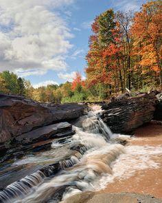 """Greenwood Falls"" Siver City, Michigan by Michigan Nut, via Flickr Credit Michigan Nut Photography"