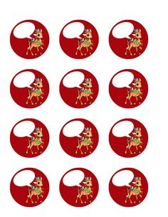 vintage Christmas reindeer - red by Free Pretty Things For You!, via Flickr