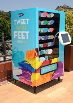 """Flip Flop Vending Machines : """"shoe vending machine"""""""