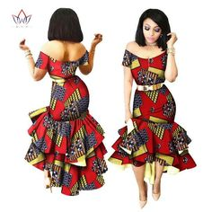 African Print Party Dashiki Dress African Fashion Clothing