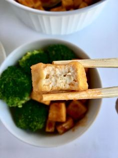 Air fried tofu with