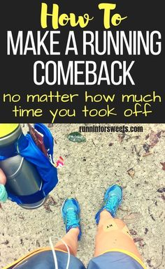 Taking time off from running due to injury, recovery, or just life is inevitable. Here's how to make a running comeback quickly and get back to running. Getting Back Into Running, How To Start Running, How To Run Faster, How To Run Longer, Starting To Run, Running Workouts, Running Training, Running Tips, Running Plans