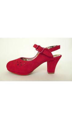 0691dab51553 1940 s Red Peep Toe Shoes  WomenShoesFashion Retro Shoes