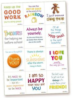 lunch box notes for kids | Notes – printable lunch box notes for kids, romance notes, fun notes ...