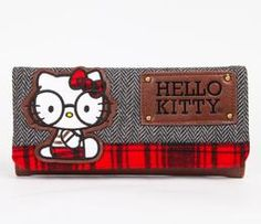 Hello Kitty Long Wallet: Round Glasses