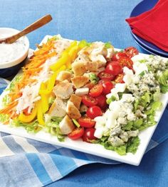 Red, White & Blue Cheese Cobb Salad - Clean Eating - Clean Eating
