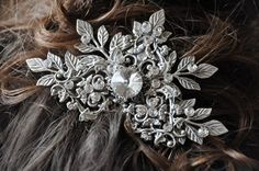 Bridal Hair CombVintage Style Swarovski Crystal by cynthiacouture
