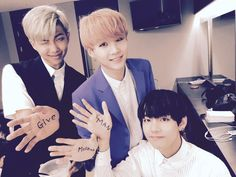 BTS - Suga, Rap Monster, V