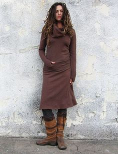 Gaia Conceptions Organic Clothing - Darjeeling Below Knee Dress, $160.00 (http://www.gaiaconceptions.com/darjeeling-below-knee-dress/)