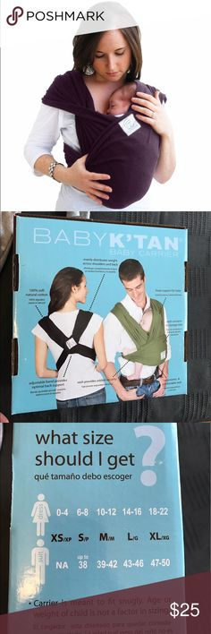Baby K'tan baby carrier Small black Don't have box but in great condition! Size small also have an XS still in box on my profile Accessories