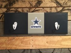 A personal favorite from my Etsy shop https://www.etsy.com/listing/468733350/dallas-cowboys-2-hook-hat-coat-rack