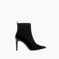 HIGH HEEL SOCK STYLE ANKLE BOOT from Zara