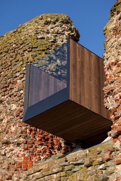 MAP architects installs an observational staircase inside a medieval danish ruin
