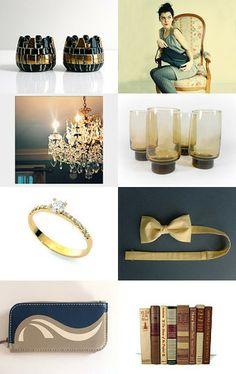 Blue and Gold by Diana Radeva on Etsy--Pinned with TreasuryPin.com