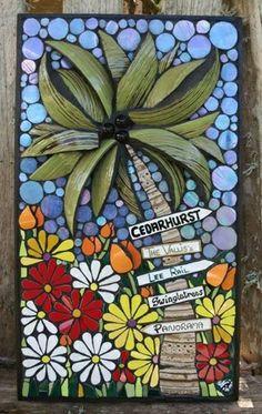 "Bermuda House Signs mosaic 8""x14"" by Nikki Murray-Mason, Nikki Inc Mosaics www.nikkiinc.com"