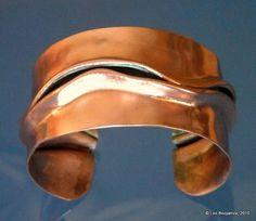 Bold Copper Cuff Bracelet Hand Folded by PinkCoyoteJewelry on Etsy, $145.00