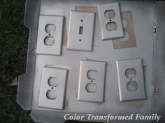Spray Paint Plastic Light Switch And Outlet Covers   For An Inexpensive  Makeover. Way Cheaper Than Replacing Them
