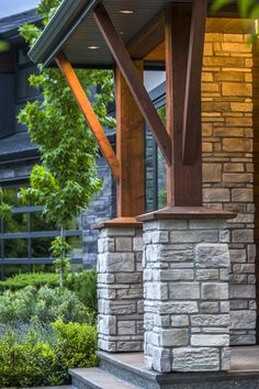 The Campagnard Stone differentiates itself by its unique shapes and variety of colors. It will add a contemporary touch to projects with a country-like appearance. This thin veneer product has a width of 1 inch. Contemporary Classic, Canopy, Interior And Exterior, Classic Style, Cottage, House Design, Outdoor Structures, Homes, Trends