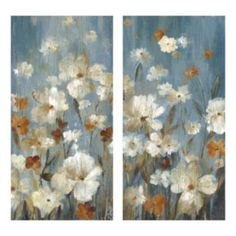 Side office option - smaller scale (next to desk or on small wall)  Merriment Floral 2-piece Canvas Wall Art Set
