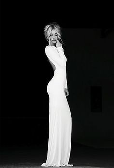Beautiful white long sleeve open back maxi dress