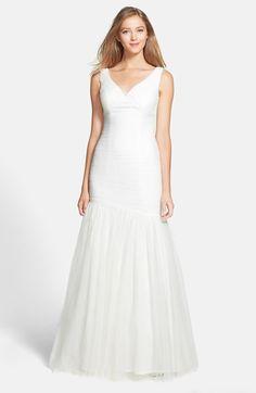 ML Monique Lhuillier Bridesmaids Tulle Trumpet Dress available at #Nordstrom