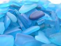 Rare turquoise sea glass from Puerto Rico.