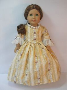 1774 Colonial Gown for Felicity or Elizabeth American Girl by terristouch on Etsy