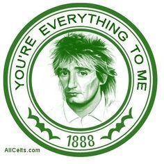 Rod Stewart:Celtic Celtic Fc, European Cup, Rod Stewart, Glasgow Scotland, One Team, Paradise, Kingfisher, Tv, Walking Dead