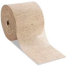 Precut Burlap fabric in various width sizes in 100yard rolls.  and very cheap!  SCORE!!!