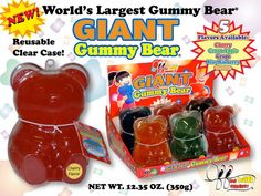 "Gift a Giant Gummy Bear this Valentine's Day - with the message of ""Life would be un'bear'able without you."" I know - we ""aww'd"", too! #valentinescandy"
