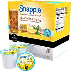 @Overstock.com.com - Snapple Lemon Iced Tea K-Cup Portion Packs for Keurig K Cup Brewer (Case of 88) - Life handed us lemons, we picked out the best ones and blended their lemon flavor with our green and black teas to create our famous snapple lemon tea. This case includes eighty eight cups for the Keurig K Cup brewer.  http://www.overstock.com/Gifts-Flowers/Snapple-Lemon-Iced-Tea-K-Cup-Portion-Packs-for-Keurig-K-Cup-Brewer-Case-of-88/8199243/product.html?CID=214117 $69.99