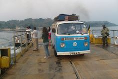 Blue VW Campervan Crossing the Nile by Kombi Nation Tours, via Flickr