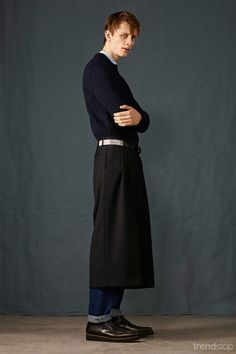 The Culotte Trend for Men! McQ Lookbook Fall Winter 2015-16. For more fashion trend forecasting, check out Trendstop.com
