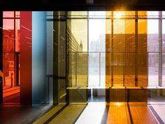 Bauhaus Museum Dessau opens in slick 'Black Box' Bauhaus Architecture, Library Architecture, Contemporary Architecture, Interior Architecture, Bauhaus Interior, Walter Gropius, Josef Albers, Glass Building, Building Design